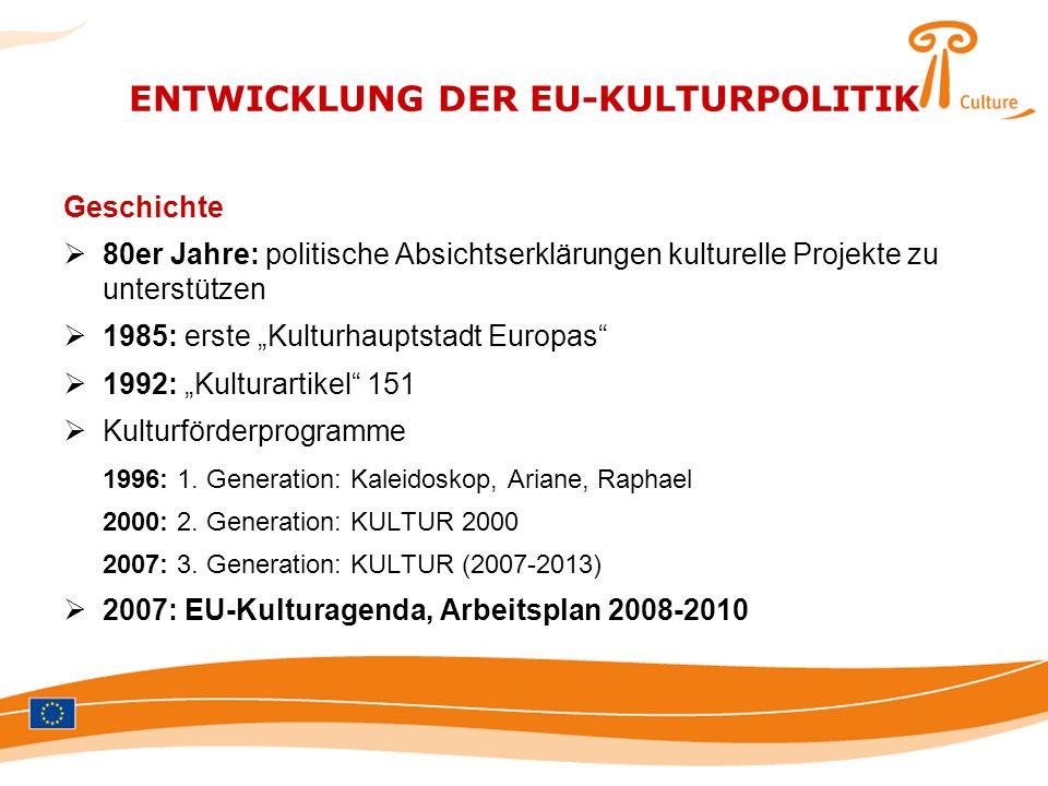 ENTWICKLUNG DER EU-KULTURPOLITIK