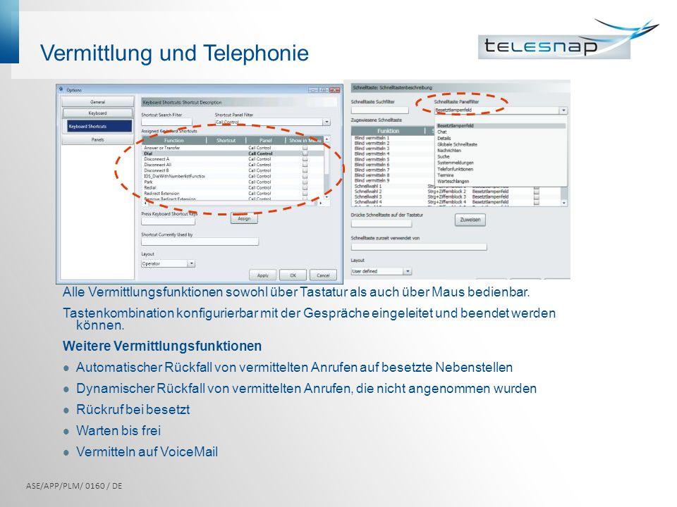 Vermittlung und Telephonie