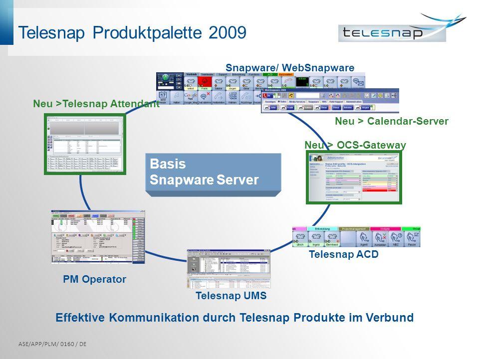 Telesnap Produktpalette 2009