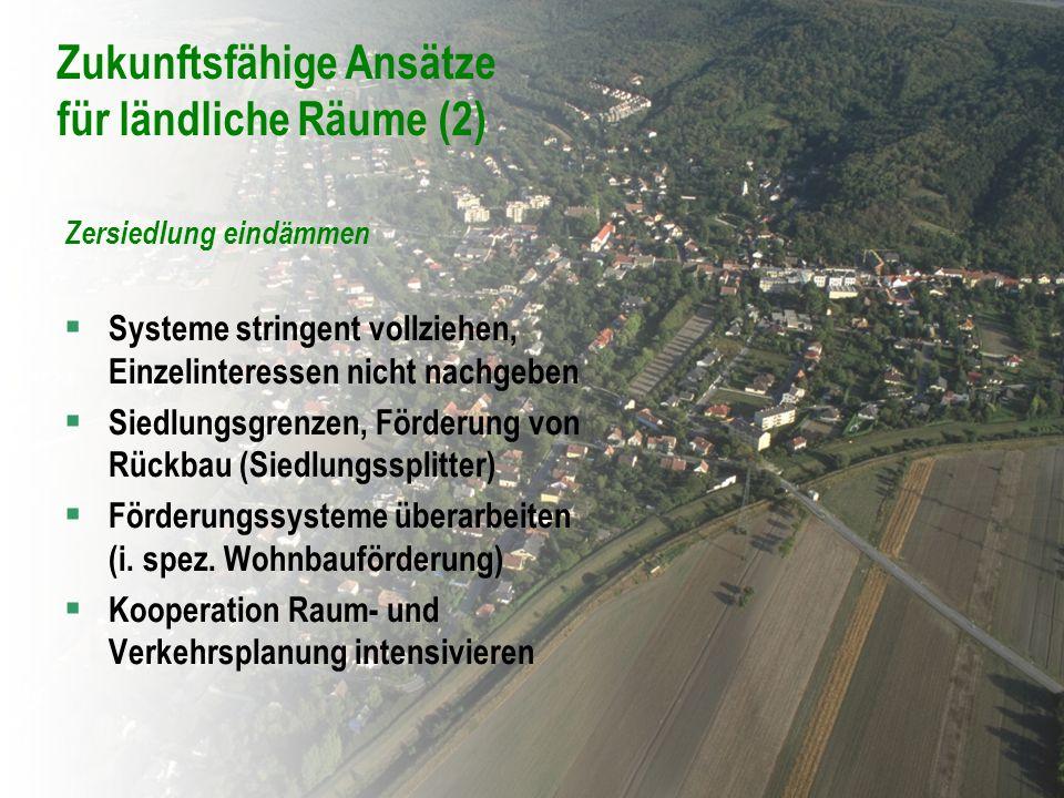 Zukunftsfähige Ansätze für ländliche Räume (2)