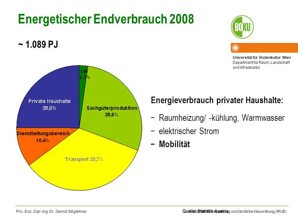 Energetischer Endverbrauch 2008