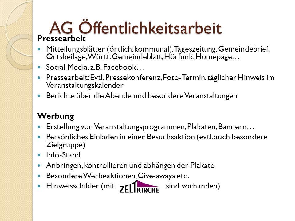 AG Öffentlichkeitsarbeit
