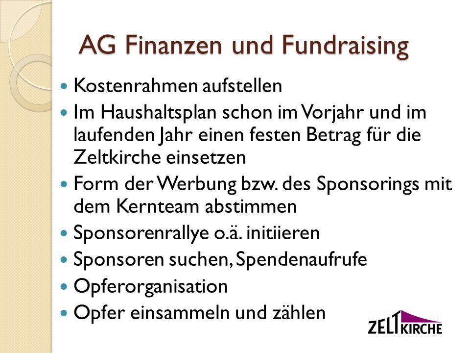 AG Finanzen und Fundraising