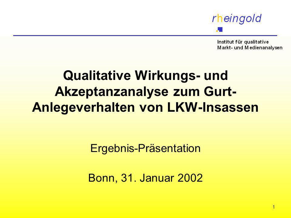 Ergebnis-Präsentation Bonn, 31. Januar 2002