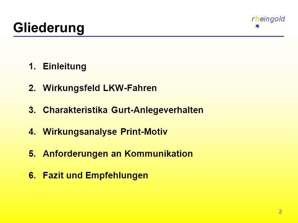 Gliederung 1. Einleitung 2. Wirkungsfeld LKW-Fahren