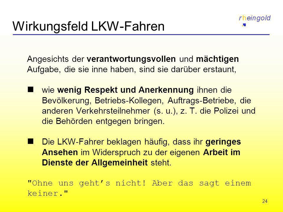 Wirkungsfeld LKW-Fahren