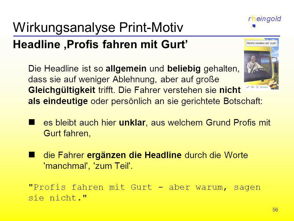 Wirkungsanalyse Print-Motiv
