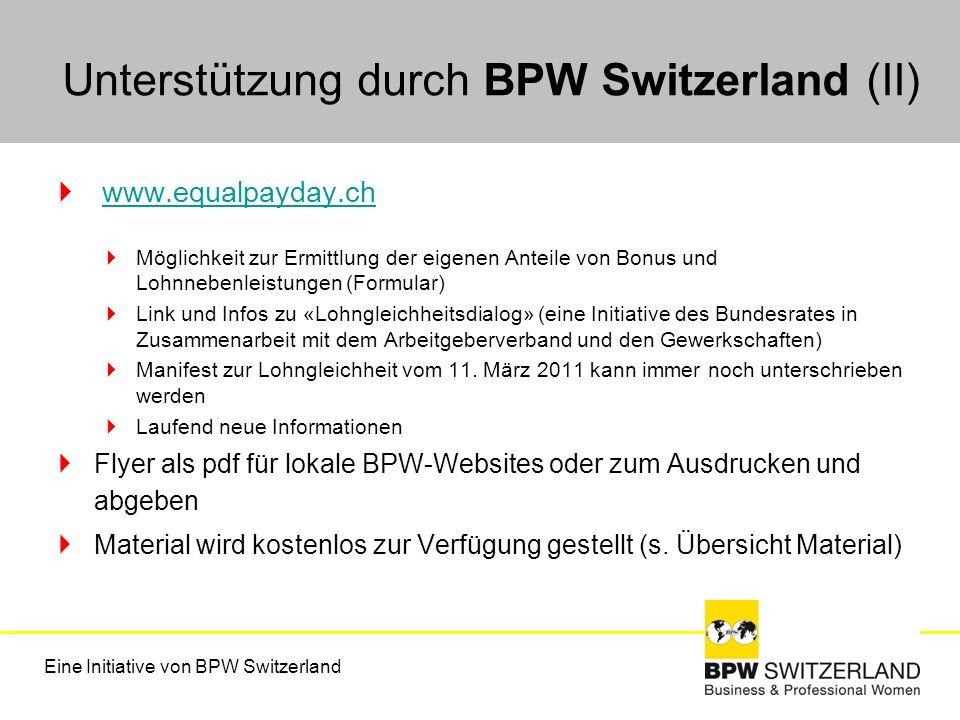 Unterstützung durch BPW Switzerland (II)