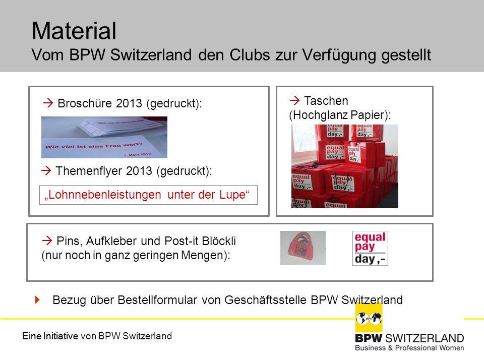 Material Vom BPW Switzerland den Clubs zur Verfügung gestellt
