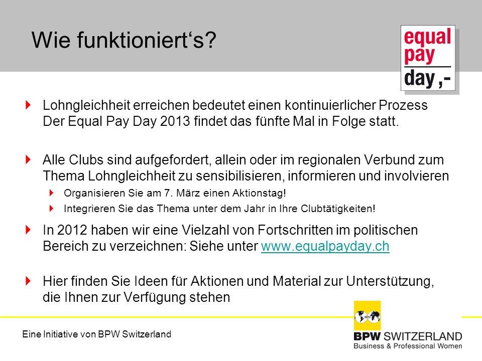 Wie funktioniert's Lohngleichheit erreichen bedeutet einen kontinuierlicher Prozess Der Equal Pay Day 2013 findet das fünfte Mal in Folge statt.