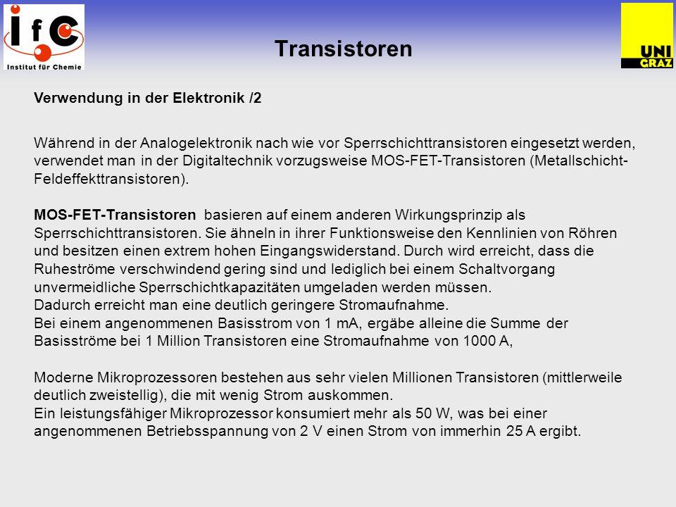 Transistoren Verwendung in der Elektronik /2
