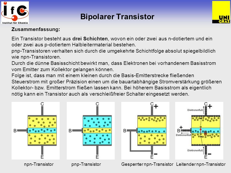 Bipolarer Transistor Zusammenfassung: