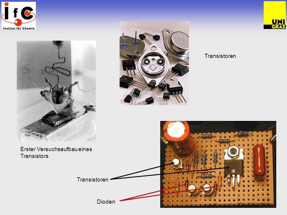 Transistoren Transistoren Dioden Erster Versuchsaufbau eines Transistors