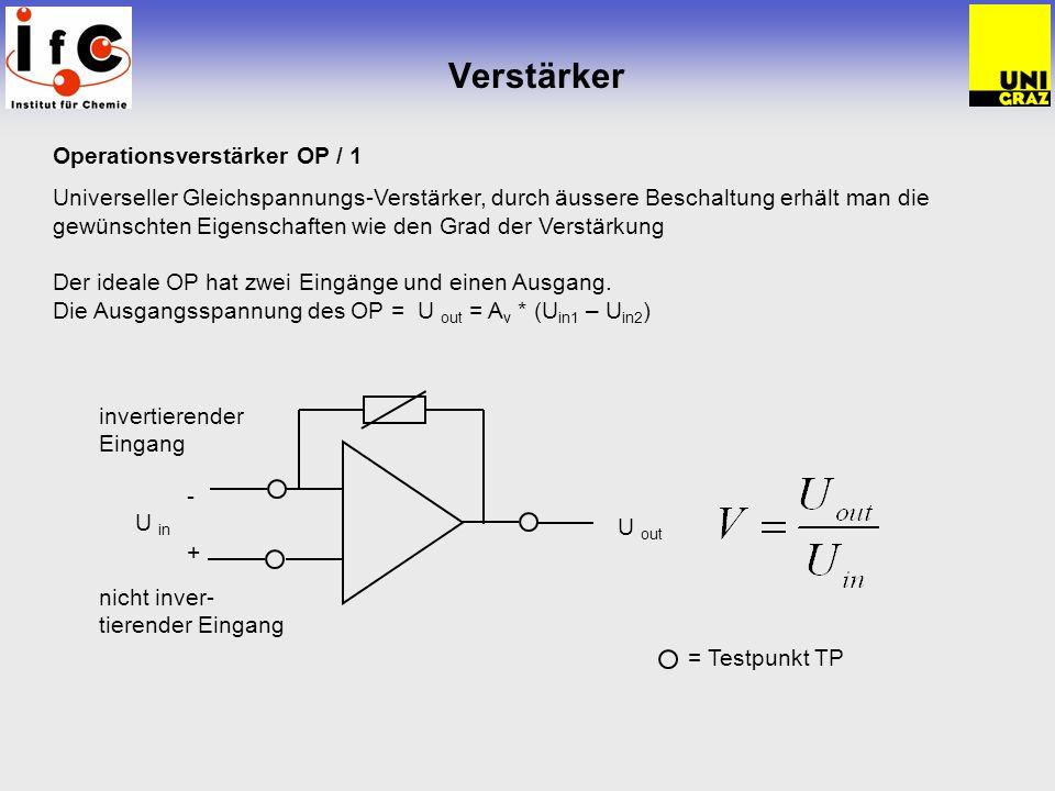 Verstärker Operationsverstärker OP / 1