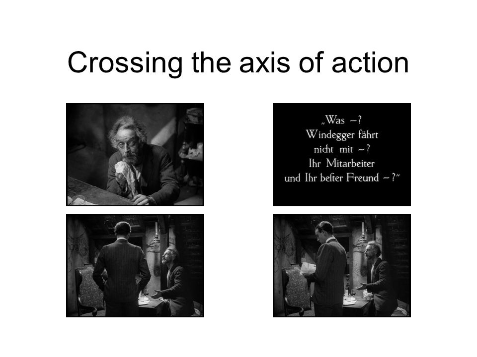 Crossing the axis of action