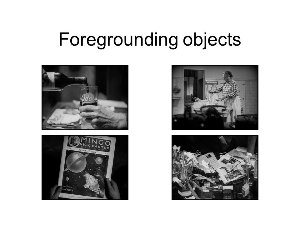 Foregrounding objects
