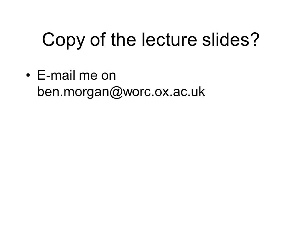 Copy of the lecture slides