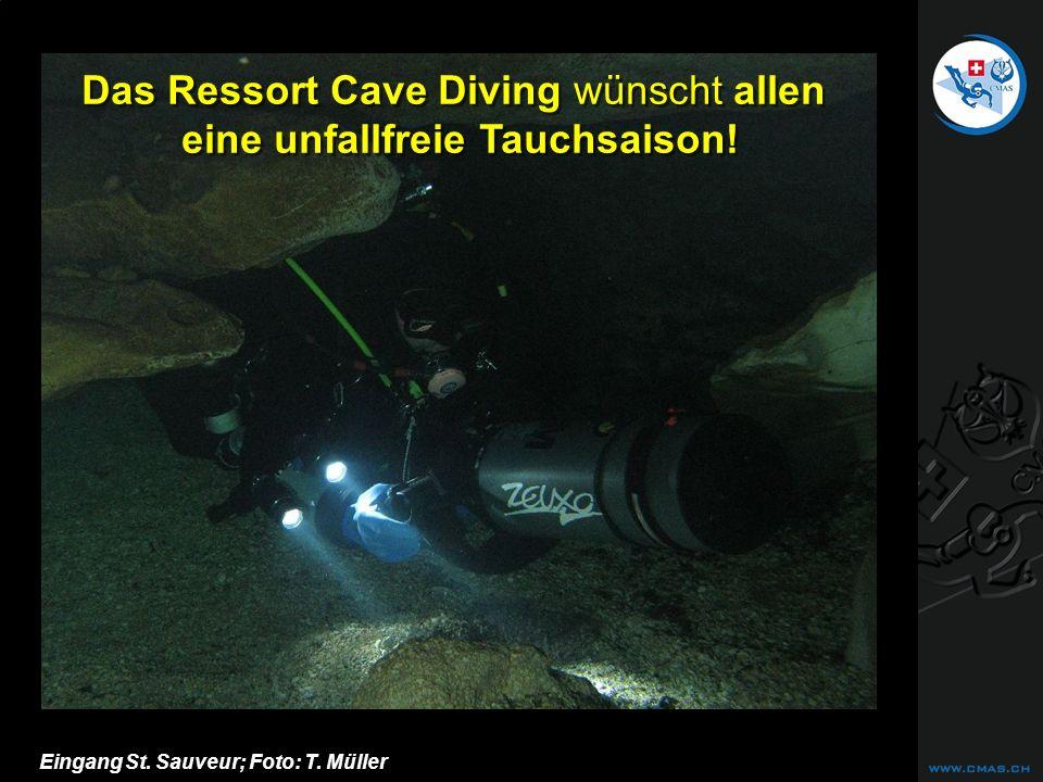 Das Ressort Cave Diving wünscht allen eine unfallfreie Tauchsaison!