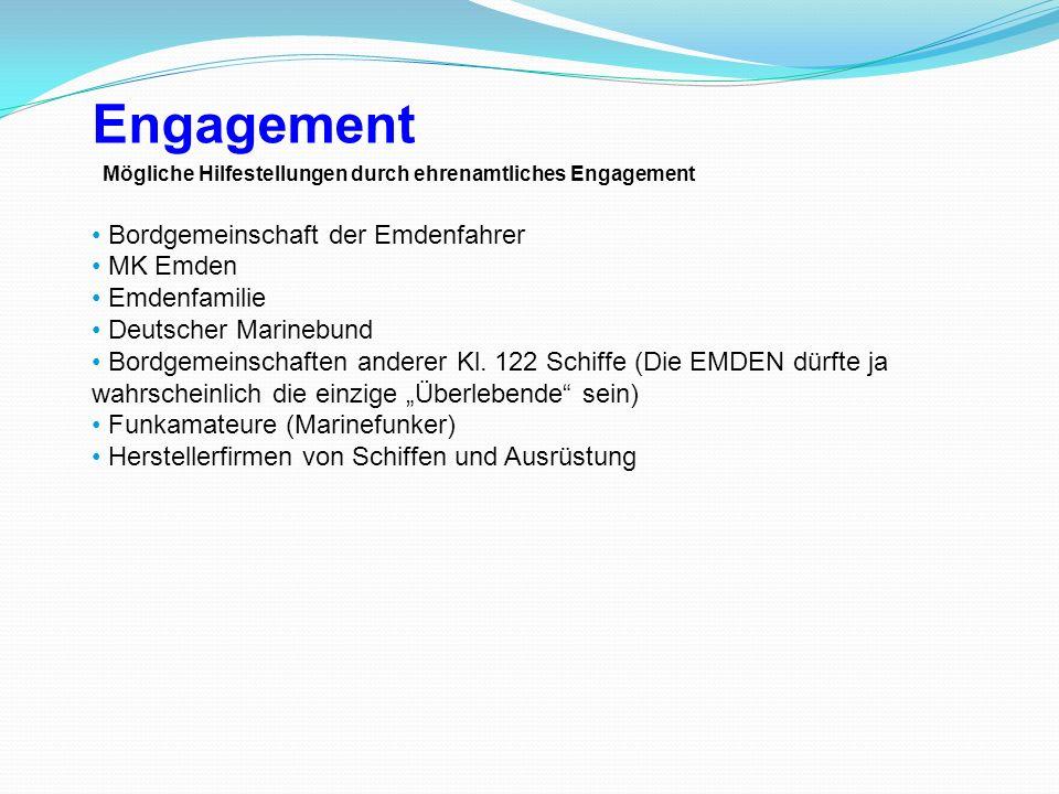 Engagement Bordgemeinschaft der Emdenfahrer MK Emden Emdenfamilie