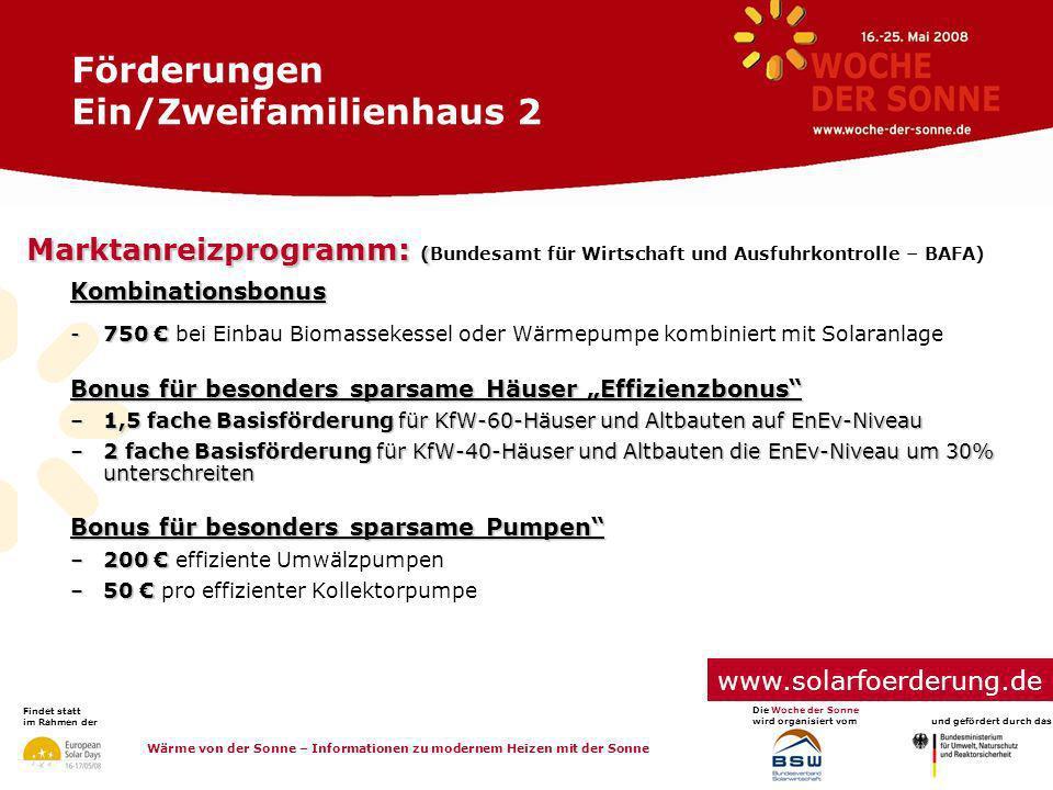 Förderungen Ein/Zweifamilienhaus 2