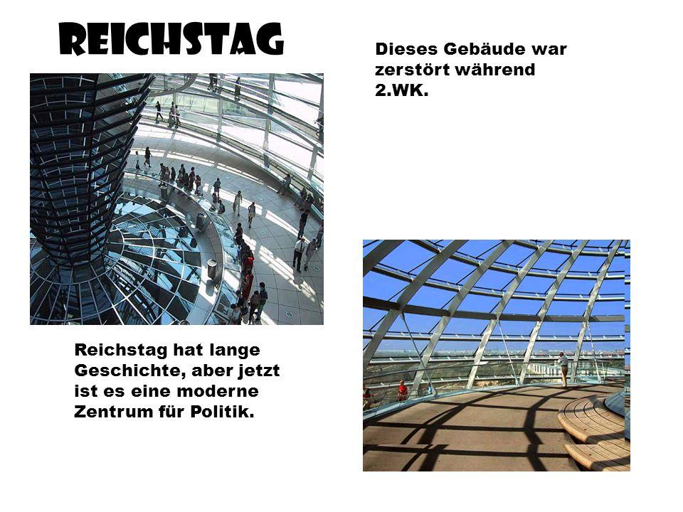 Reichstag Dieses Gebäude war zerstört während 2.WK.