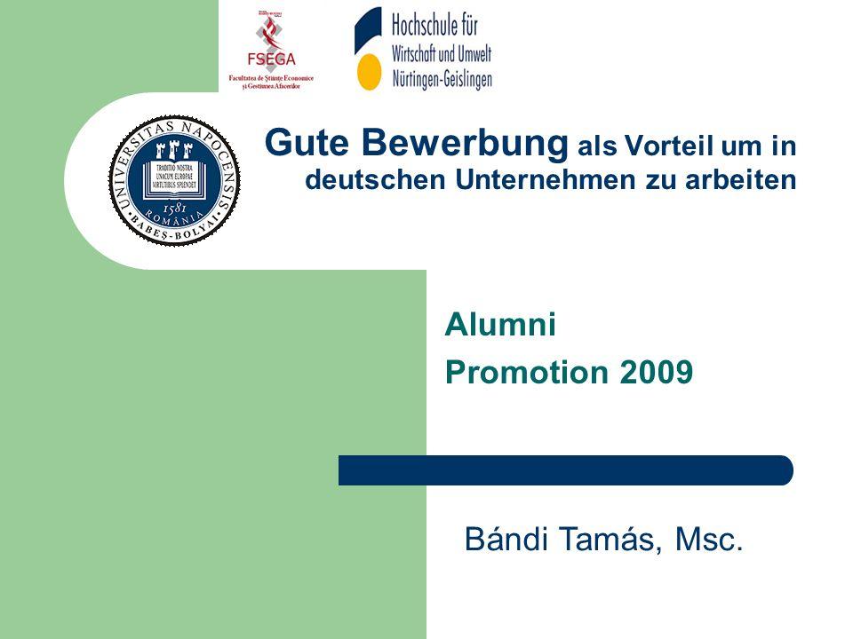 gute bewerbung als vorteil um in deutschen unternehmen zu arbeiten - Gute Bewerbung