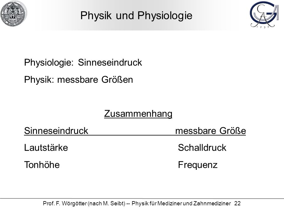 Physik und Physiologie