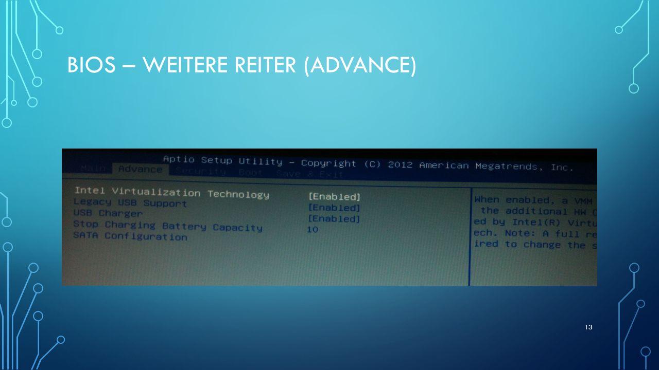 BIOs – weitere reiter (advance)