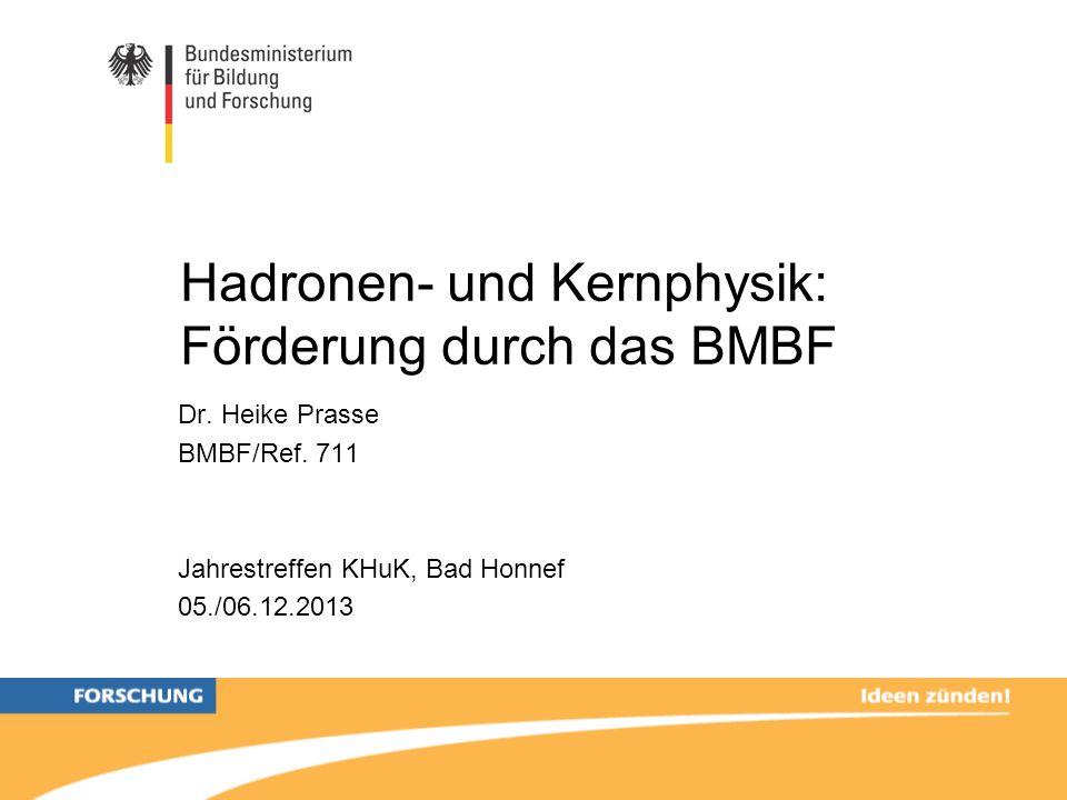 Hadronen- und Kernphysik: Förderung durch das BMBF