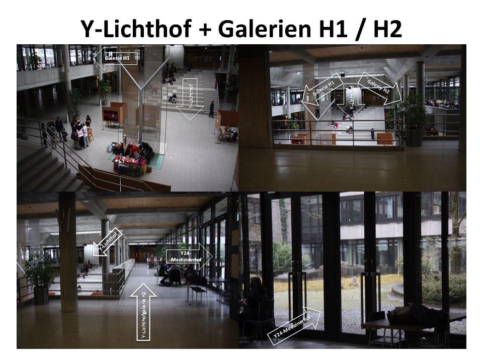 Y-Lichthof + Galerien H1 / H2