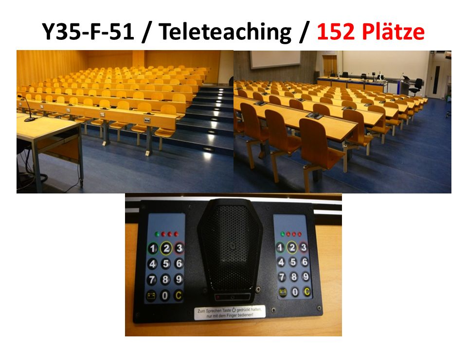 Y35-F-51 / Teleteaching / 152 Plätze