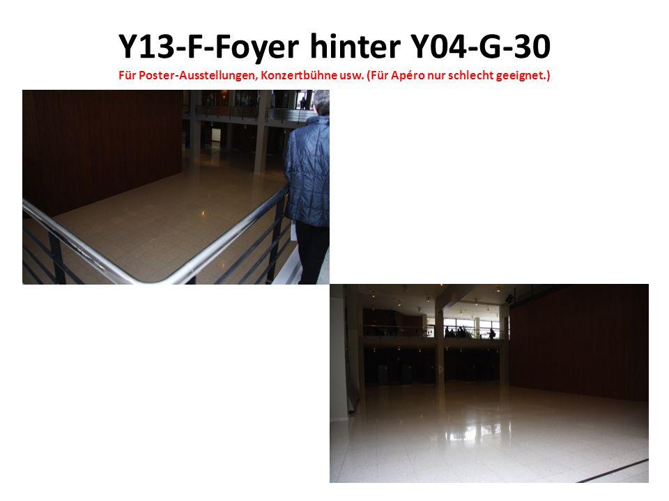 Y13-F-Foyer hinter Y04-G-30 Für Poster-Ausstellungen, Konzertbühne usw