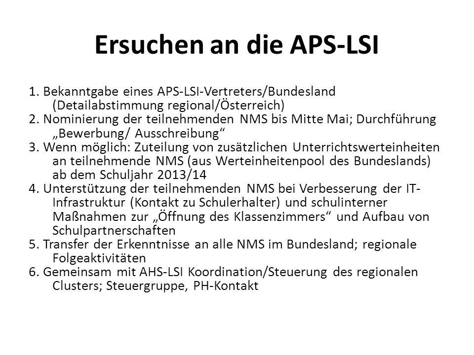 Ersuchen an die APS-LSI