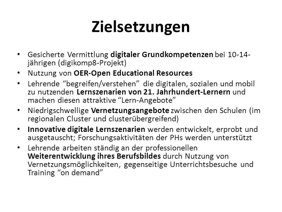Zielsetzungen Gesicherte Vermittlung digitaler Grundkompetenzen bei 10-14-jährigen (digikomp8-Projekt)