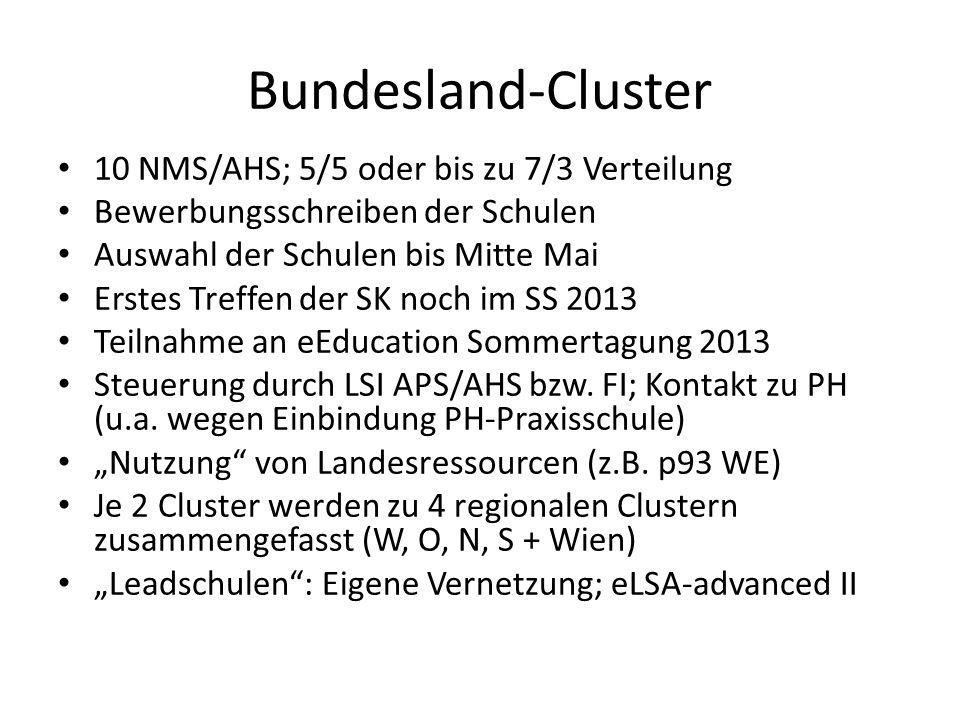 Bundesland-Cluster 10 NMS/AHS; 5/5 oder bis zu 7/3 Verteilung