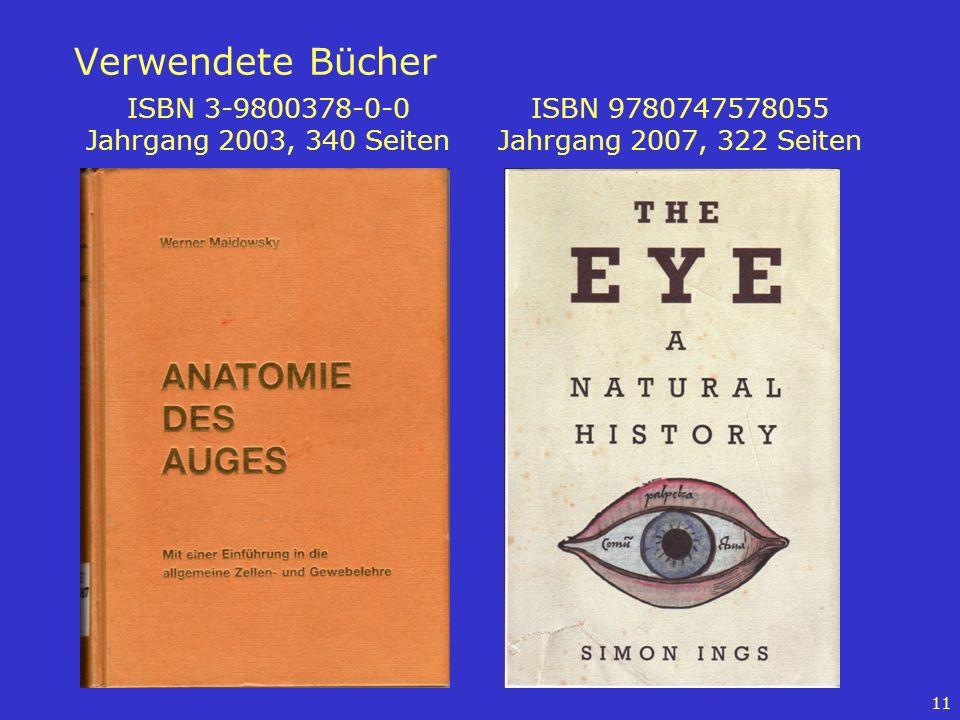 Verwendete Bücher ISBN 3-9800378-0-0 Jahrgang 2003, 340 Seiten