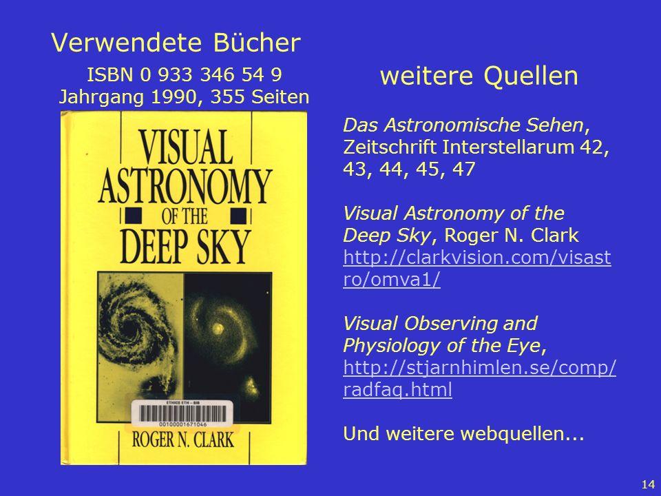 Verwendete Bücher weitere Quellen ISBN 0 933 346 54 9