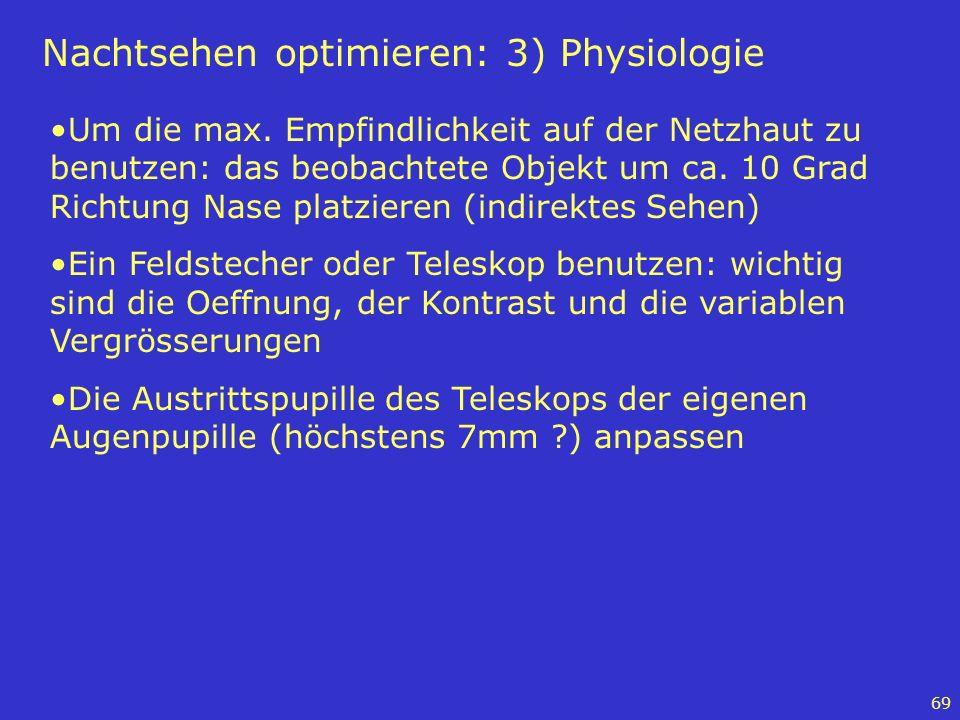 Nachtsehen optimieren: 3) Physiologie