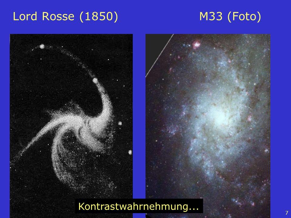Lord Rosse (1850) M33 (Foto) Kontrastwahrnehmung...