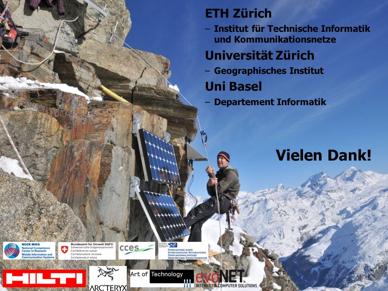 Vielen Dank! ETH Zürich Universität Zürich Uni Basel