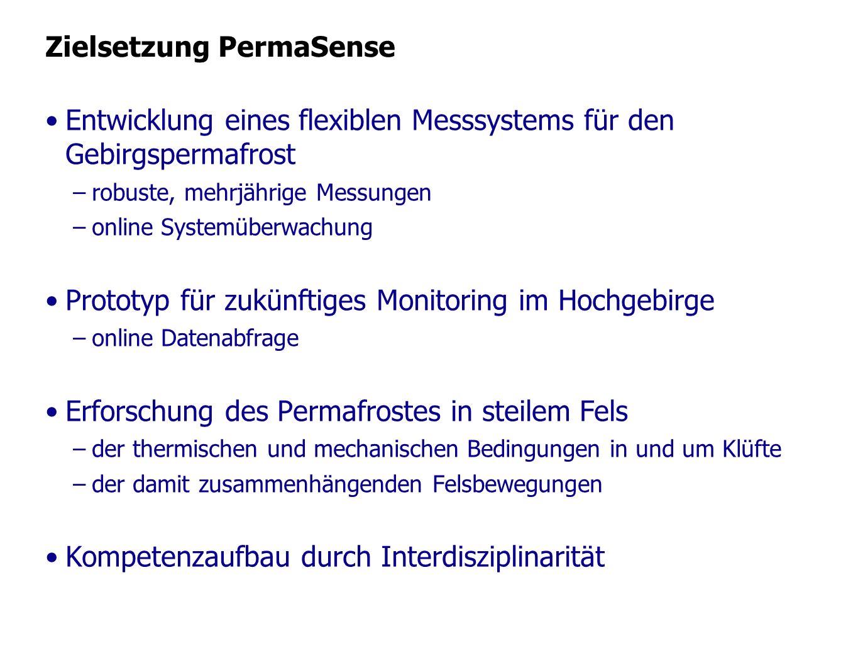 Zielsetzung PermaSense