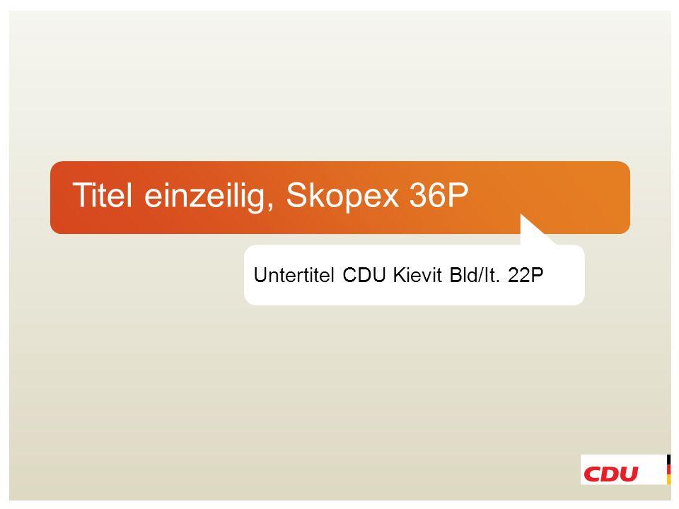 Titel einzeilig, Skopex 36P