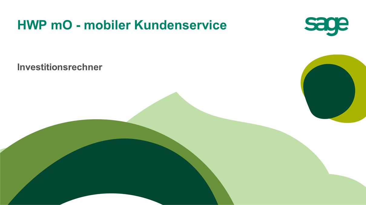 HWP mO - mobiler Kundenservice