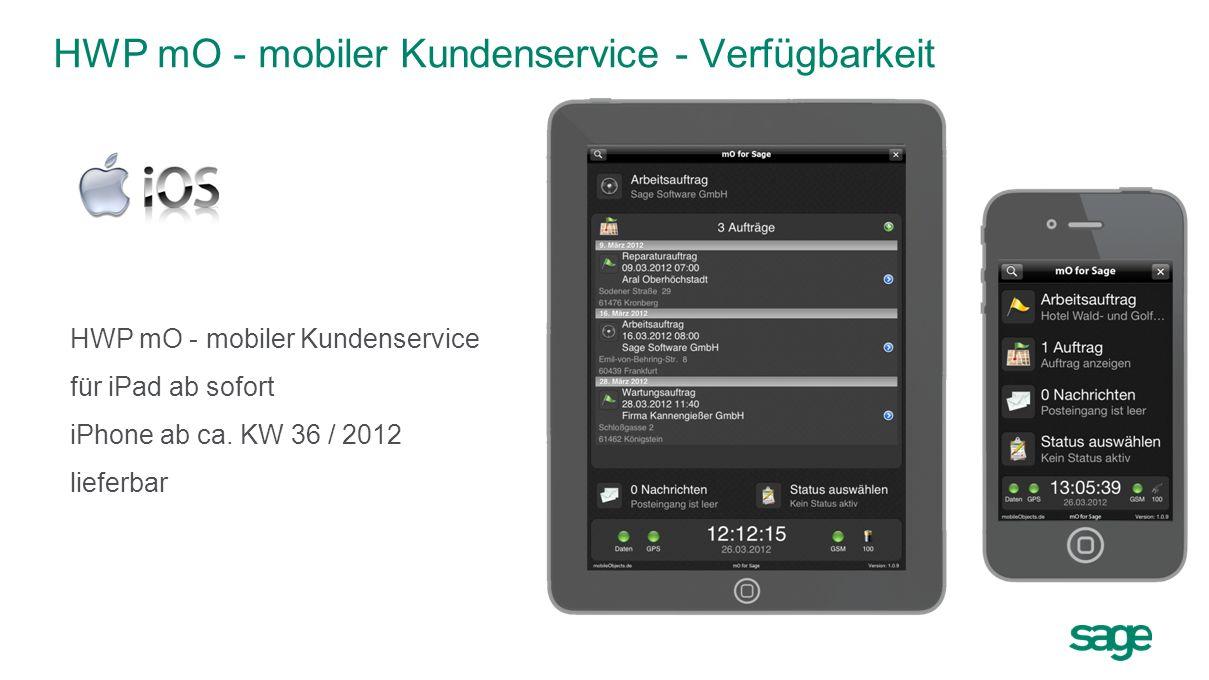 HWP mO - mobiler Kundenservice - Verfügbarkeit