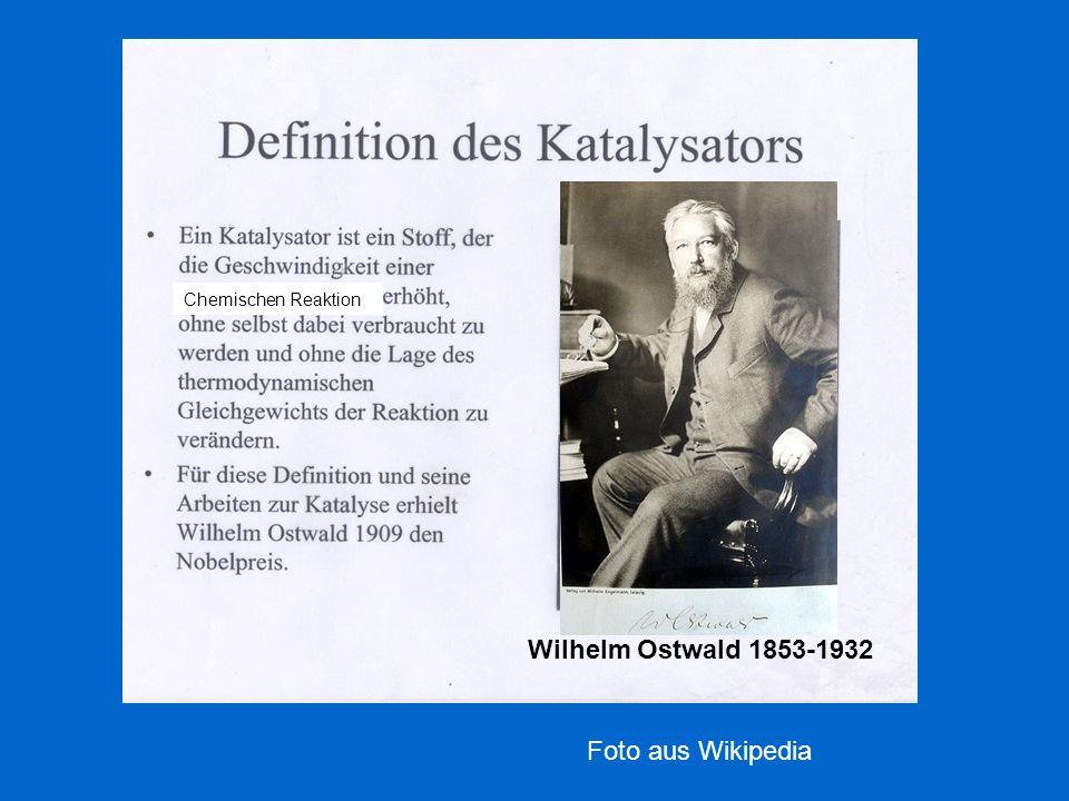 Chemischen Reaktion Wilhelm Ostwald 1853-1932 Foto aus Wikipedia