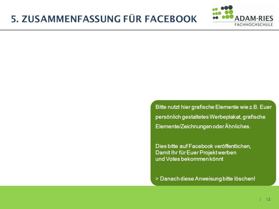 5. Zusammenfassung für Facebook