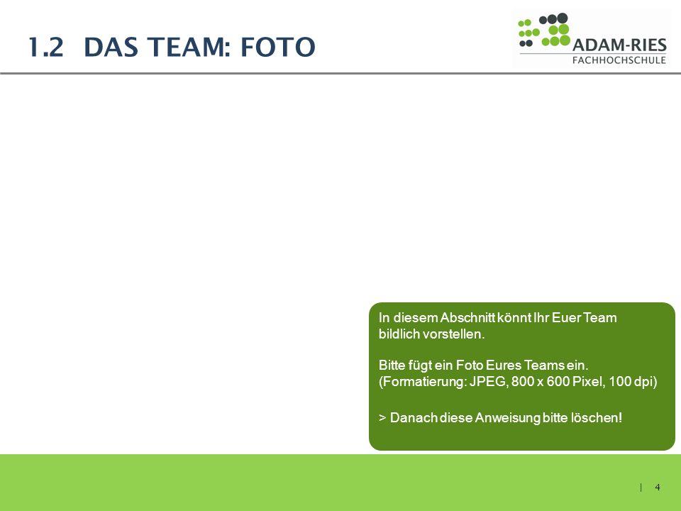 1.2 Das Team: Foto