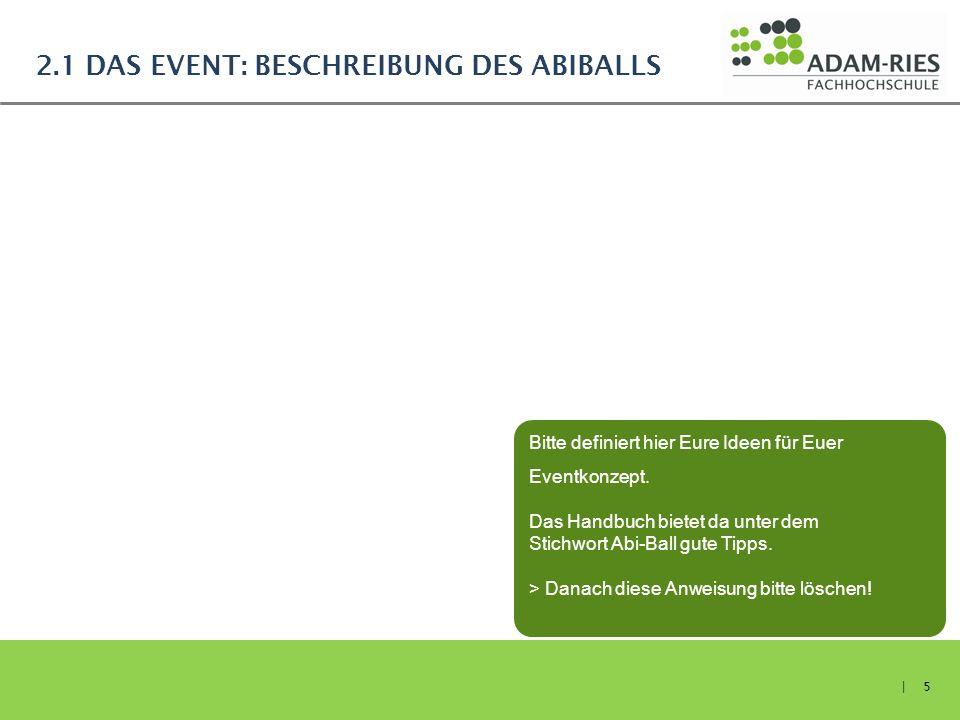 2.1 Das Event: Beschreibung des Abiballs