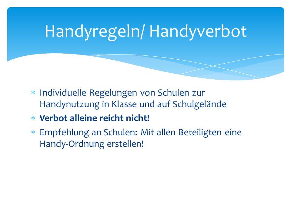 Handyregeln/ Handyverbot