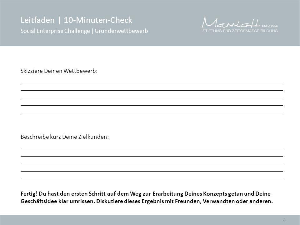 Leitfaden | 10-Minuten-Check